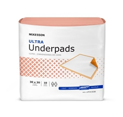 McKesson Ultra Incontinence Underpads